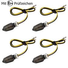 4x LED Smoked Microblinker Miniblinker Blinker Motorrad / E-Prüfzeichen 12V
