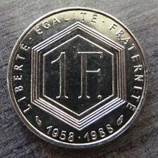 Pièce commémorative de 1 franc Charles de Gaulle 1958-1988