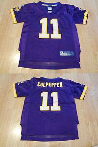 Youth Minnesota Vikings Daunte Culpepper L (7) Jersey (Purple) Reebok Jersey