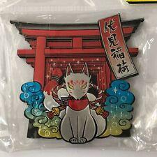 F/S Fushimi Inari Shrine Torii Gate Silver Fox Large Kitchen Magnet Kyoto Japan