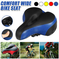 Wide Bike Seat Cushion Soft Comfy Padded Mountain Cruiser Road Bicycle Saddle