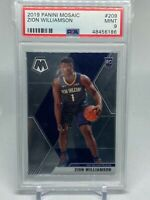 2019-20 Panini Mosaic Zion Williamson #209 Base Rookie Card PSA 9 MINT
