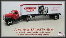 Armstrong '60 Mack Tractor Trailer ~1:34  First Gear Replica