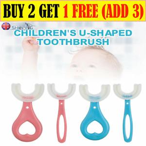 Children's Kids U-shape Toothbrush Silicone Teeth Brush 360° Thorough Cleaning