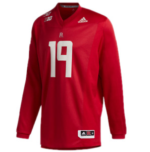 ADIDAS retro Rutgers Scarlet Knights Jersey- XL-NEW-$150-150th anniversary shirt