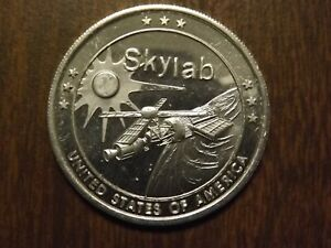 SKYLAB I THE UNITED STATE/'S  FIRST SPACE STATION BRONZE COMMEMORATIVE COIN