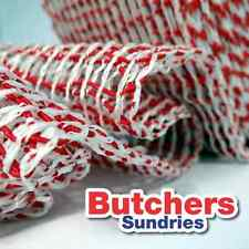 Butchers-Sundries 50m of Red/White Butchers Roastable Meat Netting Large Tube