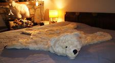"""Fake Fur POLAR BEAR RUG skin PLUSH white 52"""" LARGE photography prop KING SIZE"""