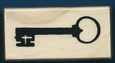 SKELETON KEY NEW occasion card Wood Mount Love Unlock Heart RUBBER STAMP
