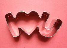 """4"""" I lOVE U Word Special Valentine Pastry Fondant Biscuit Baking Cookie Cutter"""