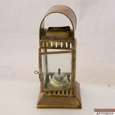 Brass Beveled Glass Railway Oil Kerosene Lantern Ship Nautical Rail Road Lamp