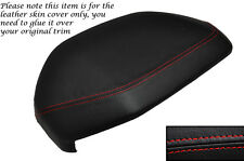 RED STITCH DASH COWL HOOD LEATHER SKIN COVER FITS LAND ROVER FREELANDER 98-06