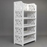 5 Tier Wood Storage Organizer Standing Shoe Rack Shelf Cabinet Space Saving