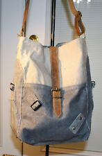 THE BARREL SHACK-THE BRYANT-HANDMADE SHOULDER BAG CANVAS LEATHER PURSE - NEW!