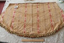 "Antique C1870-80 Pink Rose & Peach Silk & Cotton Jacquard Stripe Fabric~25""X50"""