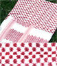 Keffiyeh - made in Palestine, 100% cotton, 110 x 110 cm, red on white