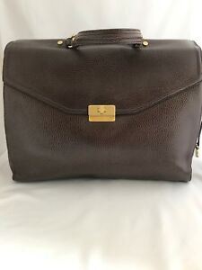 NWT Brahmin Andrea Brown Nepal Pebbled Leather Briefcase/Tote
