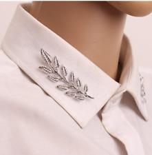 Vintage Retro Leaf Ivy Lapel Collar Brooch Pin Girls Women Accessory Pair/Silver