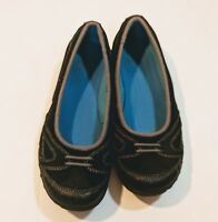 Teva Mary Jane Flats Black Suede Slip on Shoes Womens size 7 1/2 Slip Ons