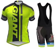 Giant Cycling Jerseys Mens Bike Short Sleeve Jersey +Bib Shorts Set Clothing