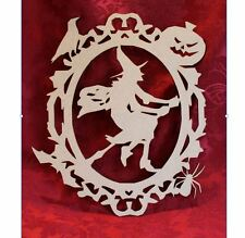 MDF Wooden Wooden Scary Witch Halloween laser cut door plaque decoration Craf...