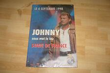 JOHNNY HALLYDAY  AFFICHE POSTER STADE DE FRANCE 1998