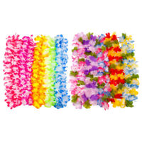 10pcs Hawaiian Leis Flower Garland Necklace Fancy Dress Luau Party Beach Decor