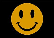 Autoaufkleber - 5 Smileys 8cm in Verkehrsgelb Sonderpreis Angebot!!!