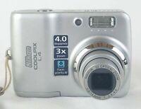 Nikon Coolpix L4 4MP Digital Camera 3X Zoom  Tested Working