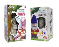 Paint Your Own Garden Gnome & Fairy 20cm Statue Figure Childrens Art & Craft Kit