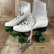 Vintage White Roller Derby Skates - Size 7 Women's With Key