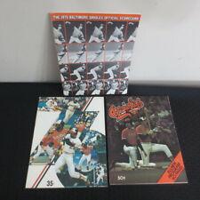 1975/1976/1977 Baltimore Orioles Scorecard Lot