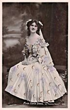 Zena Dare~British Singer & Actress~Beautiful Dress~Rotophot Photo Postcard