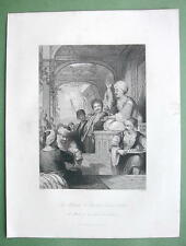 CONSTANTINOPLE Medak Story Teller - ALLOM 1840s Original Engraving Print