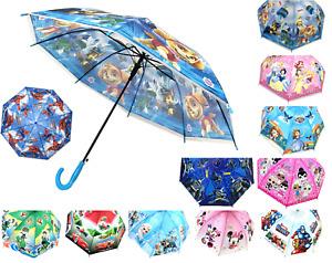 83cm Children Kids Colourful Auto Open Boys Girls Umbrella Gift Rain Wind