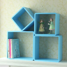 Blue Wall Shelving Coat Stand Storage Cube Shelves Display Rack Hanging bookcase
