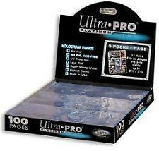100x Ultra Pro Platinum Pages 9-Pocket Seiten - Ultra Pro Ordnerseiten