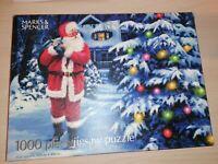 1000 PIECE JIGSAW PUZZLE SANTA'S LAST CALL MARKS & SPENCER CHRISTMAS