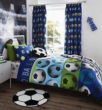 Catherine Lansfield Blue Football Double Duvet Cover & 2x Pillowcase Set Bedding