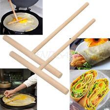 2 Pcs Crepe Maker Pancake Batter Spreader Stick Kitchen Cooking Utensils Tools