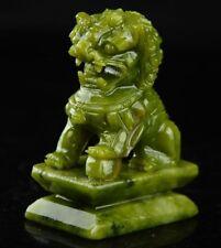 Chinese Natural Jade Fengshui Fyl Dragon Beast Kirin Pi Xiu Statue