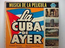 Musica de la Pelicula La Cuba de Ayer   LP