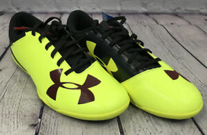 NEW Under Armour Spotlight IN JR Shoes Color Yellow Red Fusion Black Size 4.5Y
