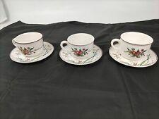 3 tasses thé Villeroy & Boch série Botanica