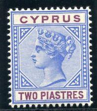 Chypre 1896 qv 2pi bleu & violet mlh. sg 43. sc 31.