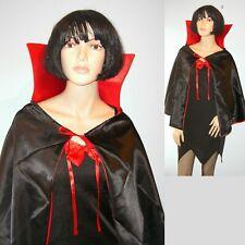 Halloween Dress and Cape Vampire Devil Mistress Size 10-12