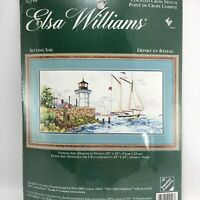Elsa Williams Cross Stitch SETTING SAIL 02148 New Ian Ramsey Lighthouse boats