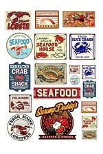 1:25 1:24 G scale model Seafood restaurant diner signs