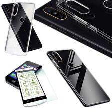 Für HTC U12 Life Silikoncase TPU Transparent + 0,26 H9 Glas Tasche Hülle Cover
