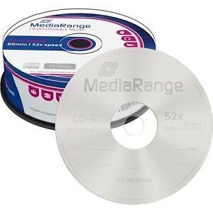 10 x CD VIERGE Disque vierge CD-R 80MIN MEDIARANGE  52X
